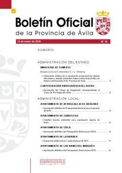 Boletín Oficial de la Provincia del jueves, 24 de enero de 2019