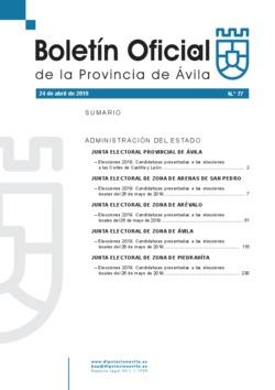 Boletín Oficial de la Provincia del miércoles, 24 de abril de 2019