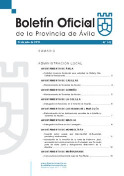Boletín Oficial de la Provincia del miércoles, 24 de julio de 2019