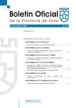Boletín Oficial de la Provincia del jueves, 24 de octubre de 2019