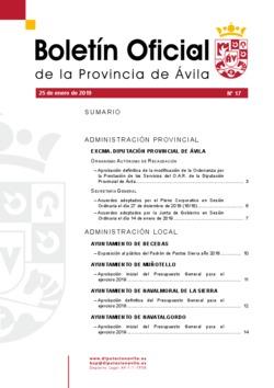Boletín Oficial de la Provincia del viernes, 25 de enero de 2019