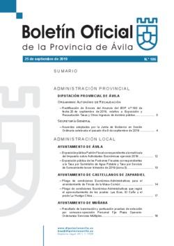 Boletín Oficial de la Provincia del miércoles, 25 de septiembre de 2019
