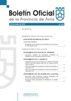 Boletín Oficial de la Provincia del viernes, 25 de octubre de 2019