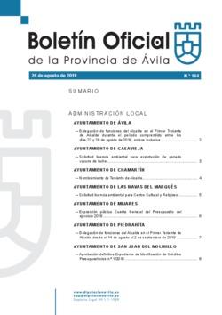 Boletín Oficial de la Provincia del lunes, 26 de agosto de 2019