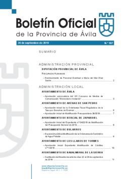 Boletín Oficial de la Provincia del jueves, 26 de septiembre de 2019