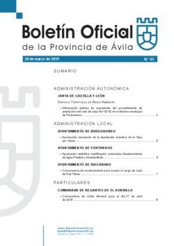 Boletín Oficial de la Provincia del jueves, 28 de marzo de 2019