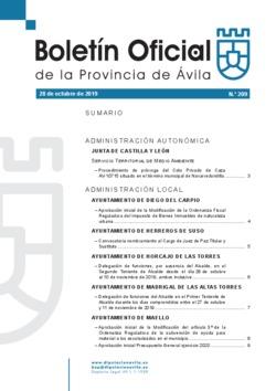 Boletín Oficial de la Provincia del lunes, 28 de octubre de 2019