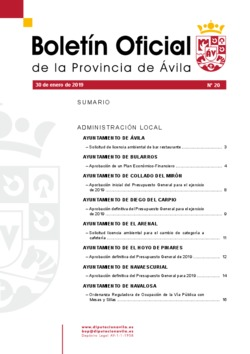 Boletín Oficial de la Provincia del miércoles, 30 de enero de 2019