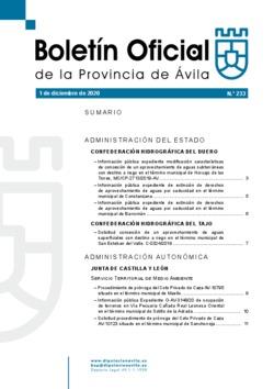 Boletín Oficial de la Provincia del martes, 1 de diciembre de 2020