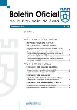 Boletín Oficial de la Provincia del martes, 2 de junio de 2020