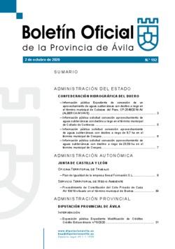 Boletín Oficial de la Provincia del viernes, 2 de octubre de 2020
