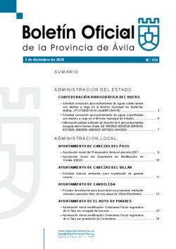 Boletín Oficial de la Provincia del miércoles, 2 de diciembre de 2020