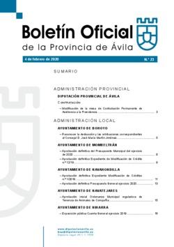Boletín Oficial de la Provincia del martes, 4 de febrero de 2020