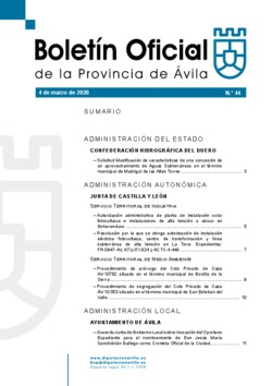 Boletín Oficial de la Provincia del miércoles, 4 de marzo de 2020