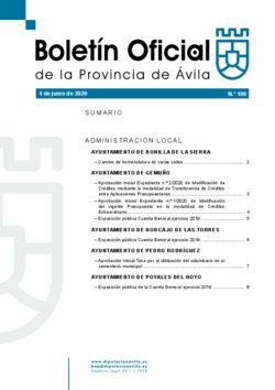 Boletín Oficial de la Provincia del jueves, 4 de junio de 2020