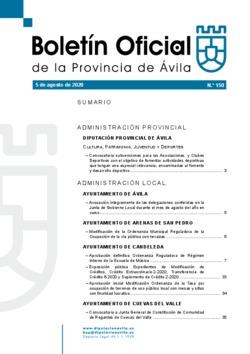 Boletín Oficial de la Provincia del miércoles, 5 de agosto de 2020