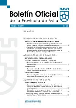 Boletín Oficial de la Provincia del lunes, 6 de julio de 2020