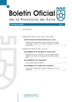 Boletín Oficial de la Provincia del martes, 7 de enero de 2020