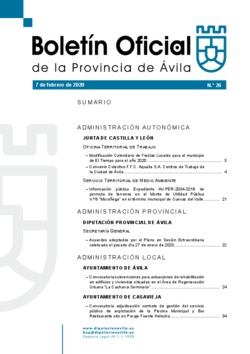 Boletín Oficial de la Provincia del viernes, 7 de febrero de 2020