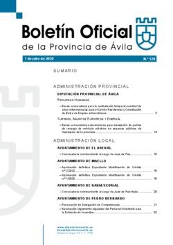 Boletín Oficial de la Provincia del martes, 7 de julio de 2020
