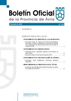 Boletín Oficial de la Provincia del miércoles, 8 de julio de 2020