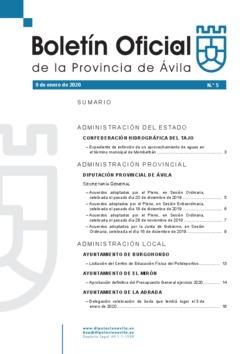 Boletín Oficial de la Provincia del jueves, 9 de enero de 2020