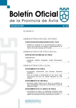 Boletín Oficial de la Provincia del jueves, 9 de julio de 2020