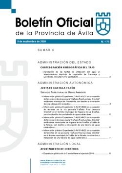Boletín Oficial de la Provincia del miércoles, 9 de septiembre de 2020