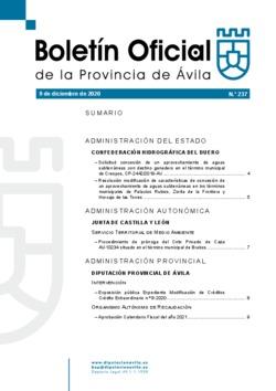 Boletín Oficial de la Provincia del miércoles, 9 de diciembre de 2020