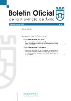 Boletín Oficial de la Provincia del viernes, 10 de enero de 2020