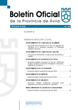 Boletín Oficial de la Provincia del miércoles, 10 de junio de 2020
