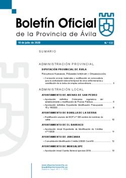 Boletín Oficial de la Provincia del viernes, 10 de julio de 2020
