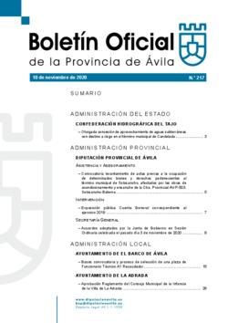 Boletín Oficial de la Provincia del martes, 10 de noviembre de 2020