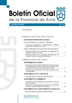 Boletín Oficial de la Provincia del jueves, 11 de junio de 2020