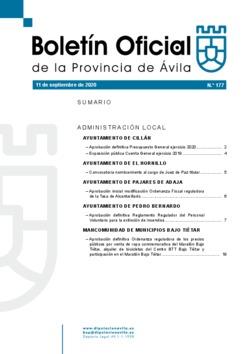 Boletín Oficial de la Provincia del viernes, 11 de septiembre de 2020