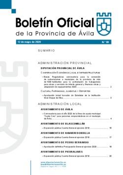 Boletín Oficial de la Provincia del martes, 12 de mayo de 2020