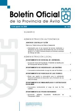 Boletín Oficial de la Provincia del miércoles, 12 de agosto de 2020