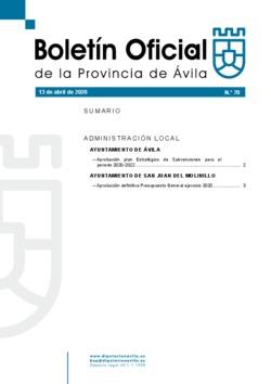 Boletín Oficial de la Provincia del lunes, 13 de abril de 2020