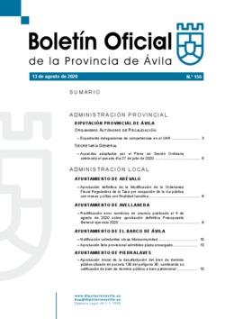 Boletín Oficial de la Provincia del jueves, 13 de agosto de 2020