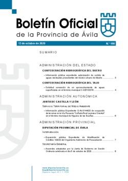 Boletín Oficial de la Provincia del martes, 13 de octubre de 2020