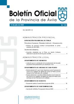 Boletín Oficial de la Provincia del martes, 14 de julio de 2020