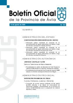 Boletín Oficial de la Provincia del viernes, 14 de agosto de 2020