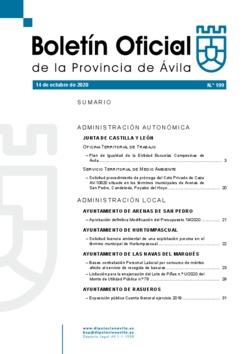 Boletín Oficial de la Provincia del miércoles, 14 de octubre de 2020