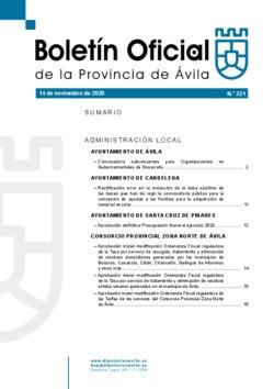Boletín Oficial de la Provincia del sábado, 14 de noviembre de 2020