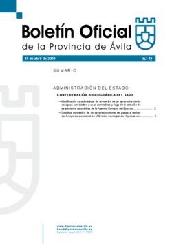 Boletín Oficial de la Provincia del miércoles, 15 de abril de 2020