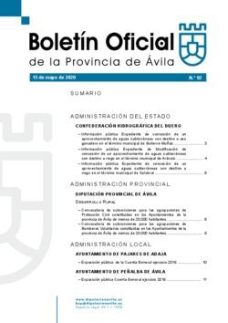 Boletín Oficial de la Provincia del viernes, 15 de mayo de 2020