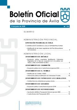 Boletín Oficial de la Provincia del lunes, 15 de junio de 2020