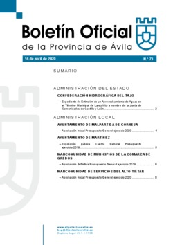 Boletín Oficial de la Provincia del jueves, 16 de abril de 2020