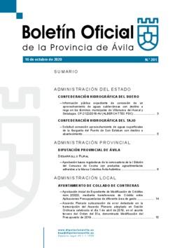 Boletín Oficial de la Provincia del viernes, 16 de octubre de 2020