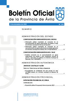 Boletín Oficial de la Provincia del miércoles, 16 de diciembre de 2020